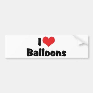 I Love Heart Balloons Bumper Sticker