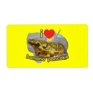 I Love (Heart) Banana Pancake ... Thai Street Food Label