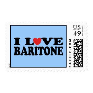 I Love Heart Baritone Gift Stamp