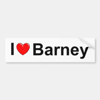 I Love (Heart) Barney Bumper Sticker