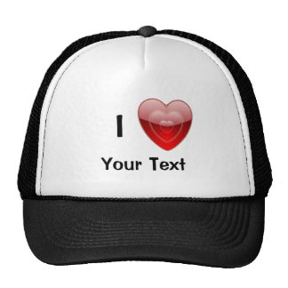 I Love Heart Baseball Cap Trucker Hat