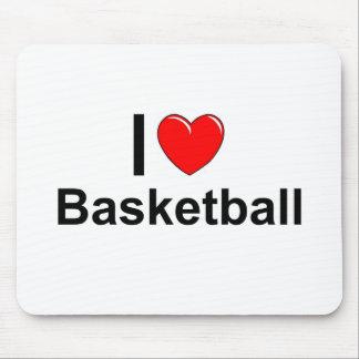 I Love Heart Basketball Mouse Pad