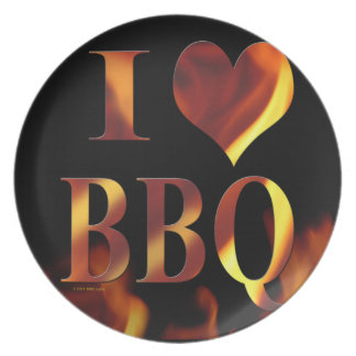 I love (heart) BBQ collector plate