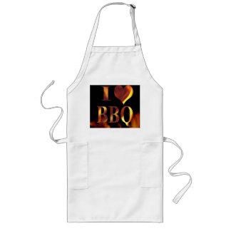 I Love (Heart) BBQ Long Apron