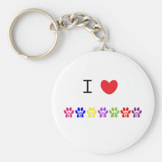 I love heart beagles dog keychain, present idea keychain