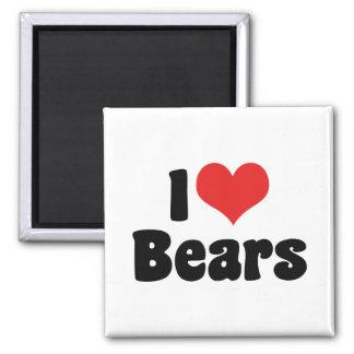 I Love Heart Bears Magnet