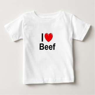 I Love Heart Beef Baby T-Shirt