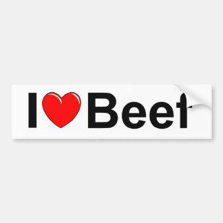 I Love (Heart) Beef Car Bumper Sticker