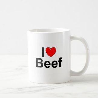 I Love (Heart) Beef Coffee Mug