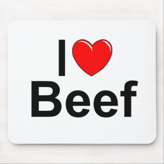 I Love (Heart) Beef Mouse Pad