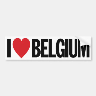"I Love Heart Belgium 11"" 28cm Vinyl Decal Bumper Sticker"