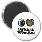 I Love (Heart) Beluga whales Magnet