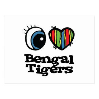 I Love (Heart) Bengal tigers Postcards