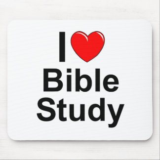 I Love (Heart) Bible Study Mouse Pad