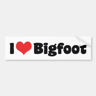 I Love Heart Bigfoot Sasquatch Yeti Bumper Sticker
