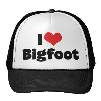 I Love Heart Bigfoot Sasquatch Yeti Trucker Hat