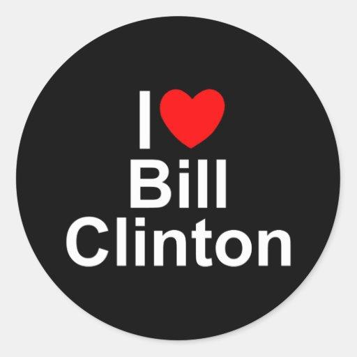 I Love (Heart) Bill Clinton Classic Round Sticker
