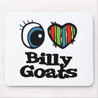 I Love (Heart) Billy goats Mouse Pad