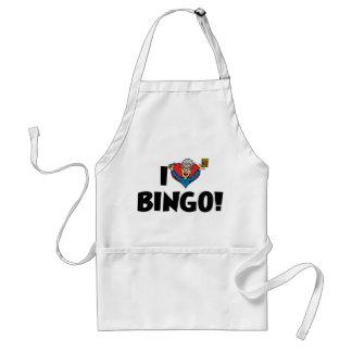 I Love Heart Bingo! - Bingo Lovers Adult Apron