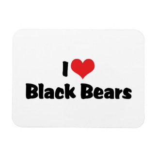 I Love Heart Black Bears Magnet