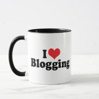 I Love Heart Blogging Mug