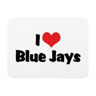 I Love Heart Blue Jays Rectangular Photo Magnet
