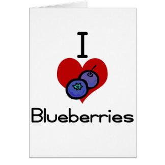 I love-heart blueberries card