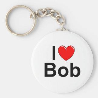 I Love (Heart) Bob Basic Round Button Keychain