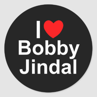 I Love (Heart) Bobby Jindal Round Stickers