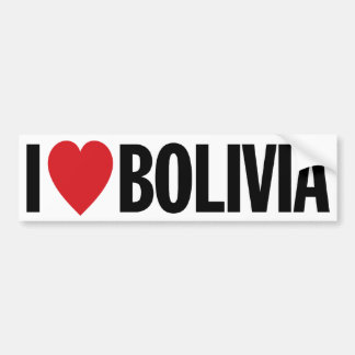 "I Love Heart Bolivia 11"" 28cm Vinyl Decal"