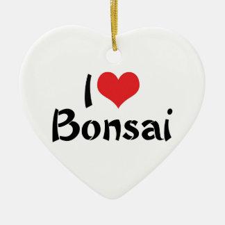 I Love Heart Bonsai - Japanese Tree Art Lover Ceramic Ornament