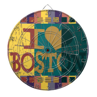 I love (heart) Boston - Vintage Boston 2 Dart Board