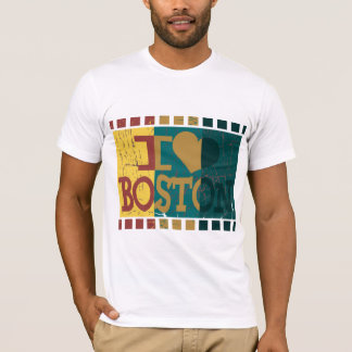I love (heart) Boston - Vintage Boston T-Shirt