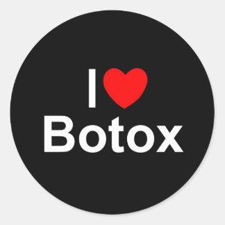 I Love (Heart) Botox Classic Round Sticker