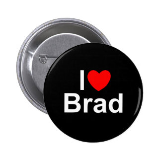 I Love (Heart) Brad Buttons