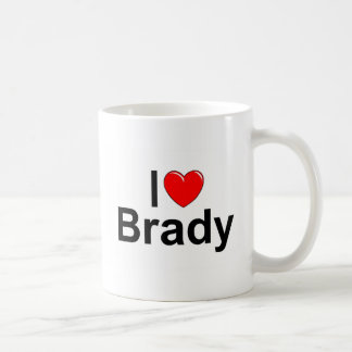 I Love (Heart) Brady Coffee Mug