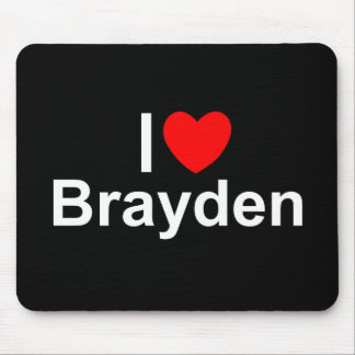 I Love (Heart) Brayden Mouse Pad