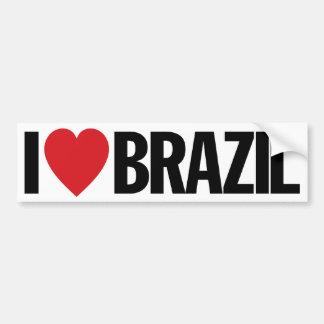 """I Love Heart Brazil 11"""" 28cm Vinyl Decal"""