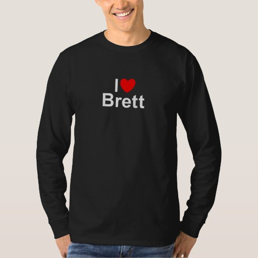 I Love (Heart) Brett Tee Shirt