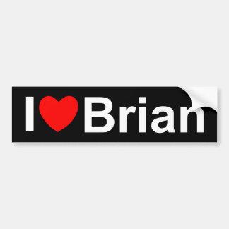 I Love (Heart) Brian Car Bumper Sticker