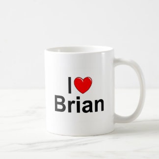 I Love (Heart) Brian Coffee Mug
