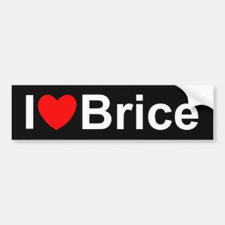 I Love (Heart) Brice Bumper Sticker