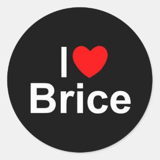 I Love (Heart) Brice Classic Round Sticker