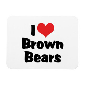 I Love Heart Brown Bears Magnet