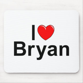 I Love (Heart) Bryan Mouse Pad