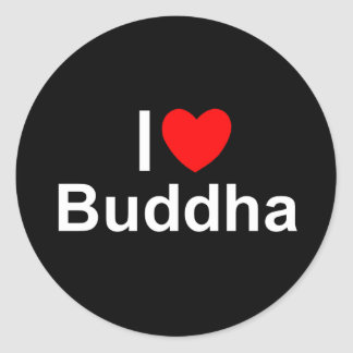 I Love (Heart) Buddha Classic Round Sticker
