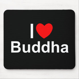 I Love (Heart) Buddha Mouse Pad