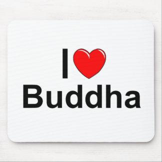 I Love (Heart) Buddha Mousepads