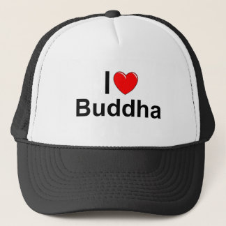 I Love (Heart) Buddha Trucker Hat