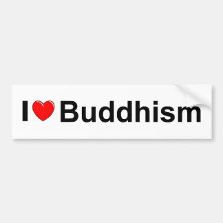 I Love (Heart) Buddhism Bumper Sticker